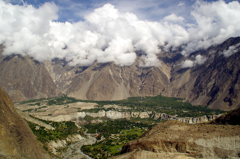 Minapin - one of the rather tiny villages in the Karakoram range