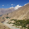 The old silk Route from Hunza to Gojal - below the wild Hunza River