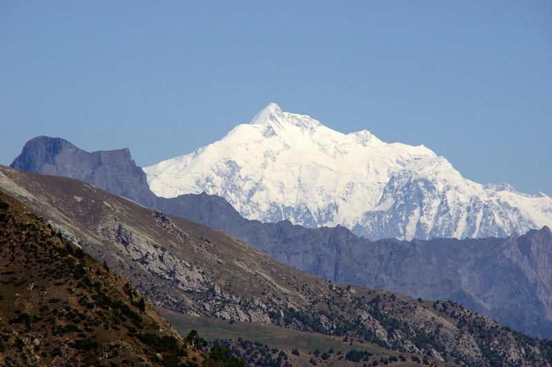 First view from Beyal towards majestic Rakaposhi - King of Hunza/Nagyr