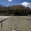 The bridge from Zarabat to Husseini, Upper Hunza