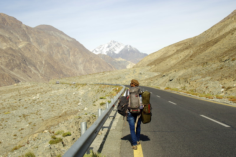 Hitch hiking along the mysterious Karakorum Highway