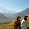 View from Malika mo Shakira to King Rakaposhi (7788 m) and the Hunza valley in Fall