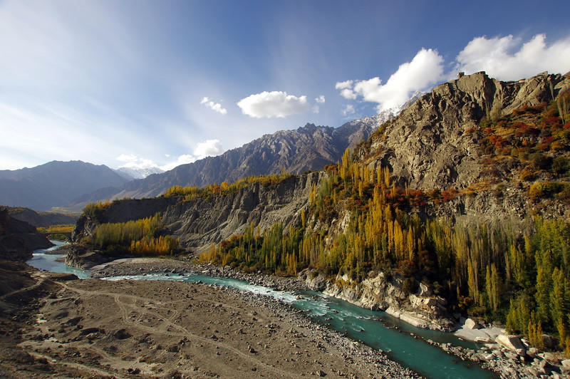 Altit and the Hunza river - manifestation of Beauty