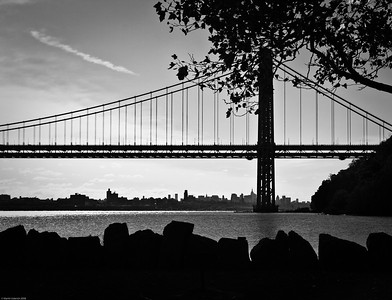 Manhattan under the GWB - From the Palisades