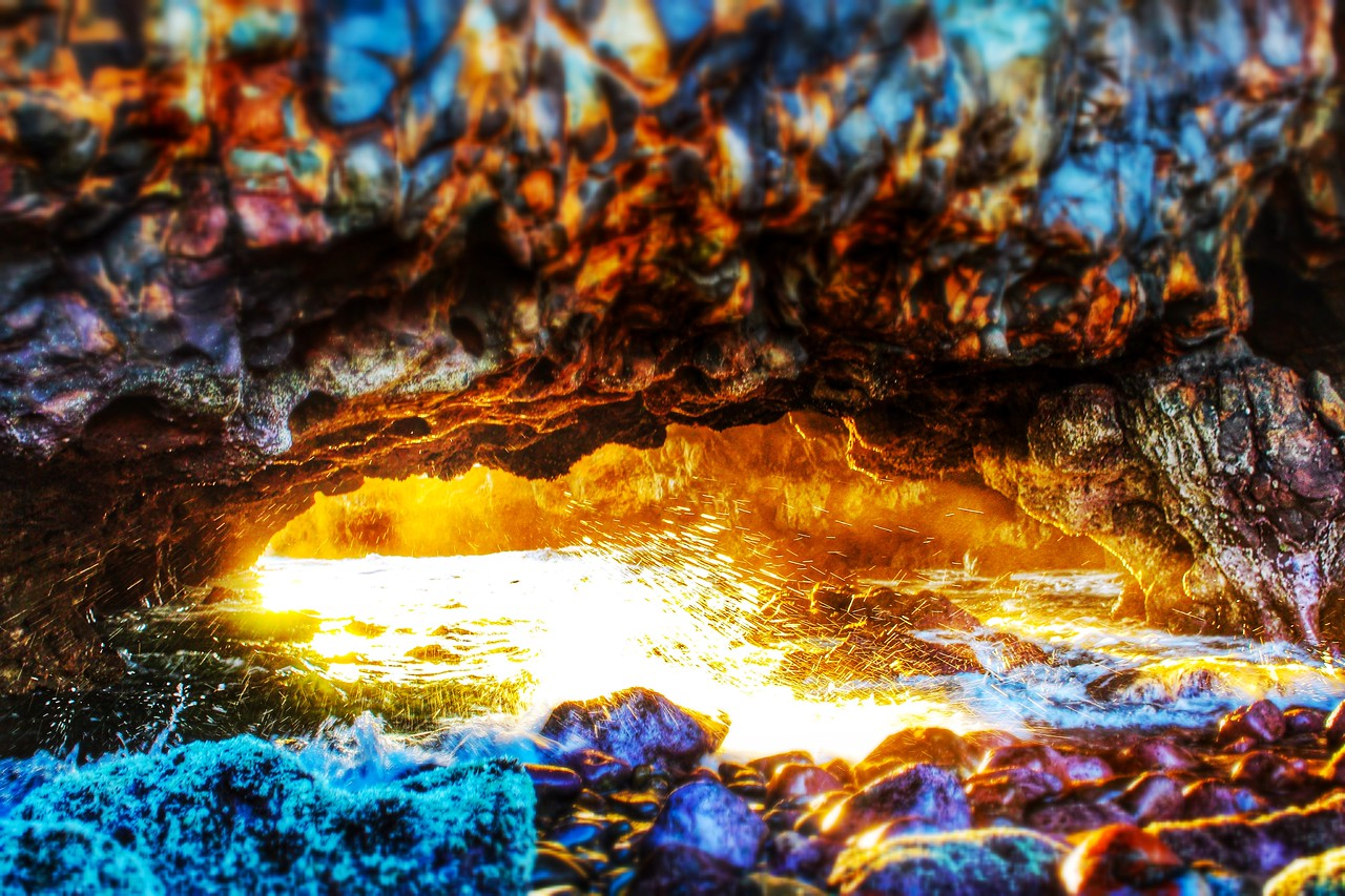Cave on Fire