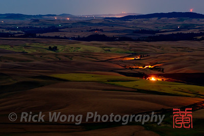 The Palouse Hills from Steptoe Butte by Moonlight