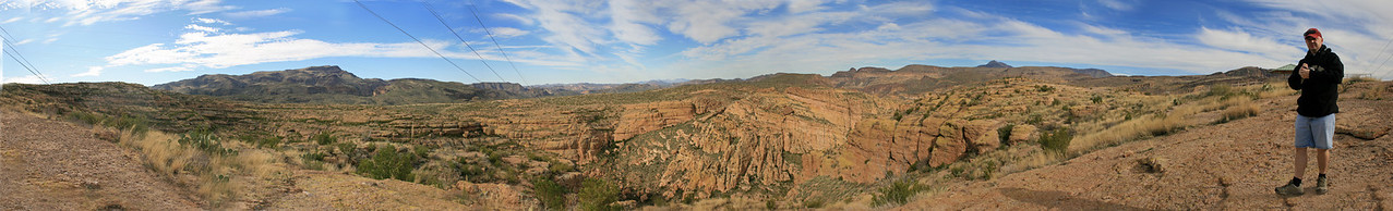 Scenic view along the Apache Trail--Tonto National Forest, Arizona