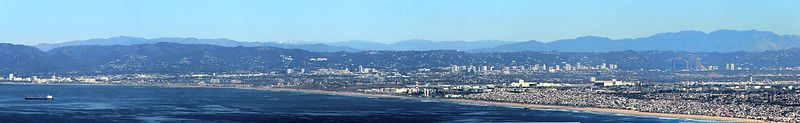 On a clear day you CAN see forever....The Los Angeles basin and Santa Monica Bay from Palos Verdes, California
