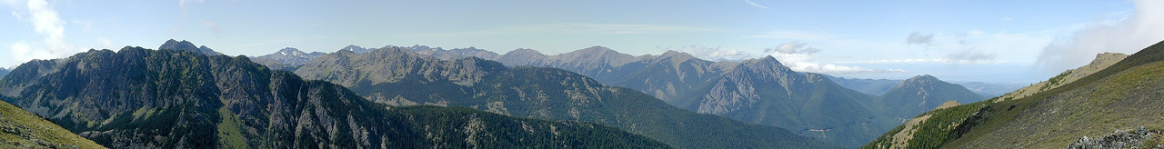 The Olympics from Mt. Townsend, Olympic Peninsula, WA --- 8-pic pano