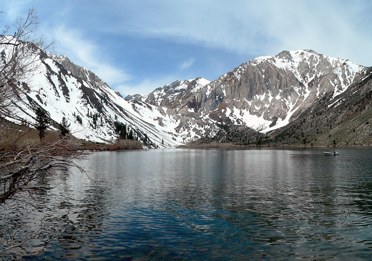 Convict Lake in early May, eastern Sierra Nevada, CA