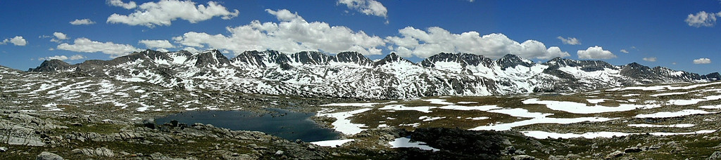 Glacier Divide and Humphreys Basin over Piute Pass, eastern Sierra Nevada, CA