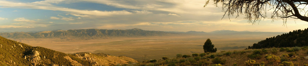 Antelope Valley at sunrise from the Blue Mass Scenic Area, Kern Mountains, Nevada/Utah border