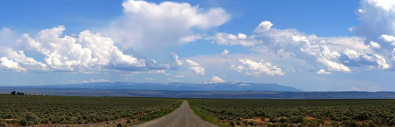 """Steens Mountain, known as simply  """" Steens"""", southeastern<br /> Oregon, 3-pic panorama"""