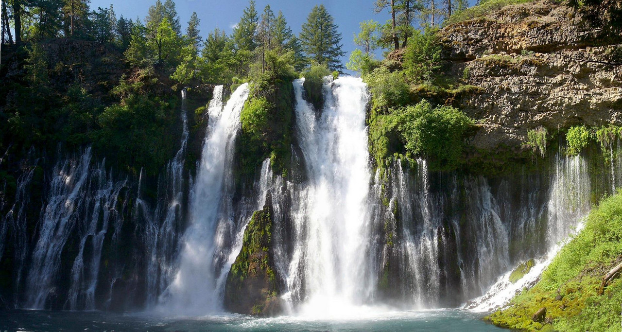 McArthur-Burney Falls State Park south of Mount Shasta, northern California. Taken on a mid-morning in May during the spring runoff.