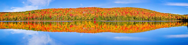 Panaroma (Size 22870 x 5550, merged X7), Canada, Quebec, La Mauricie National Park, Lac Bouchard, Fall Colors, Reflection, Landscape, 全景摄影, 加拿大 风景, 魁北克, 摩里斯国家公园, 秋色, 倒影