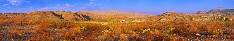 Panorama (Size 27277x4790, merged x 10), Texas, El Camino del Rio, Big Bend Ranch State Park, Landscape, 德克萨斯, 大弯曲公园, 风景, 全景摄影