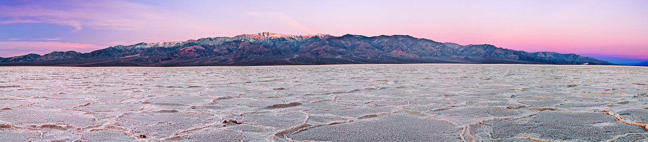 Panorama (size 22739 X 5004 merged x 8), California, Death Valley, Badwater, Sunrise, 加利福尼亚, 死亡谷国家公园, 风景, 全景摄影