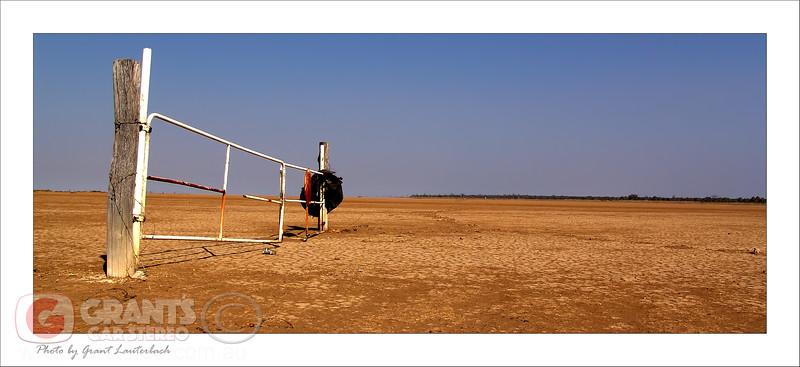 Make sure you close the gate!!! Mud flats in Derby - Western Australia.