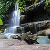 Waterfall at the Lake Side Gardens in Kuala Lumpur