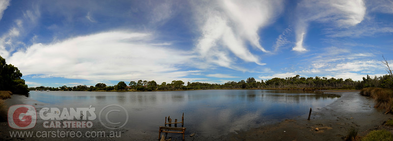 Low tide on the Swan River in Bateman, Perth - Western Australia.