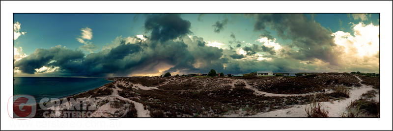 Passing storm clouds in Coral Bay - Western Australia.