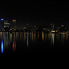 Stitched Panorama of the City of Perth in Western Australia.