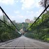 The long swinging bridge at Sunway Lagoon Fun Park - Malaysia.