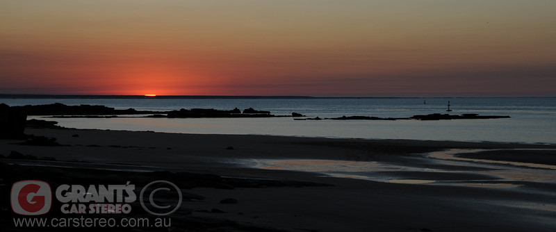 Sunrise in Broome, Western Australia.