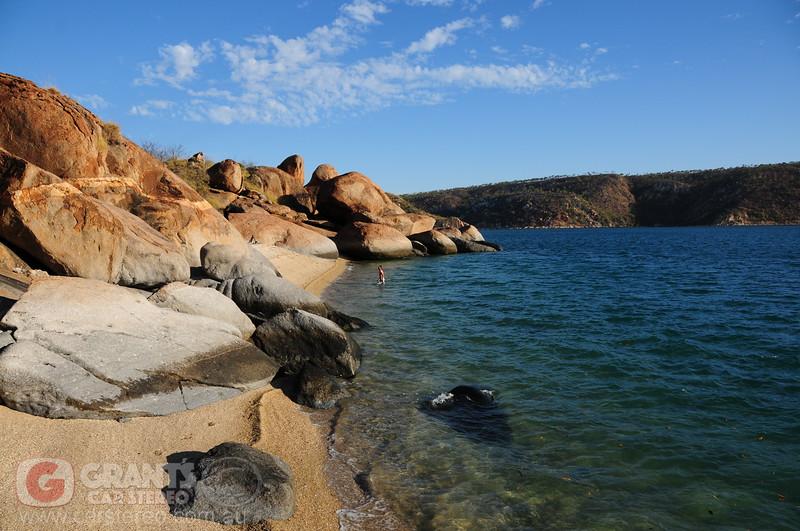 Nick cooling off in the in the Kimberley.