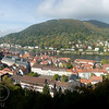 View of Heidelberg from the castle in Germany