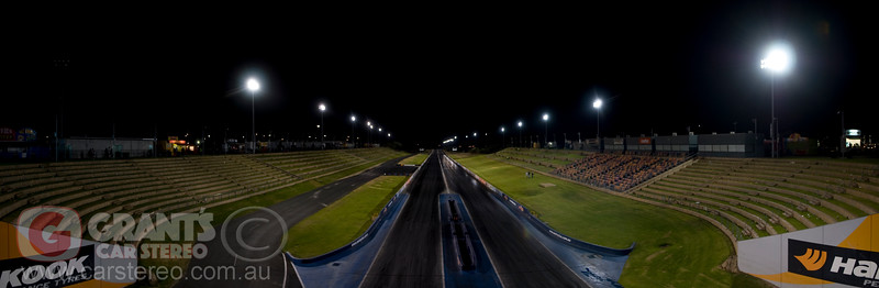 Motorplex Kwinana Drag strip at the end of a meeting.