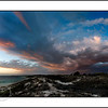 Approaching storm at sunset in Coral Bay - Western Australia