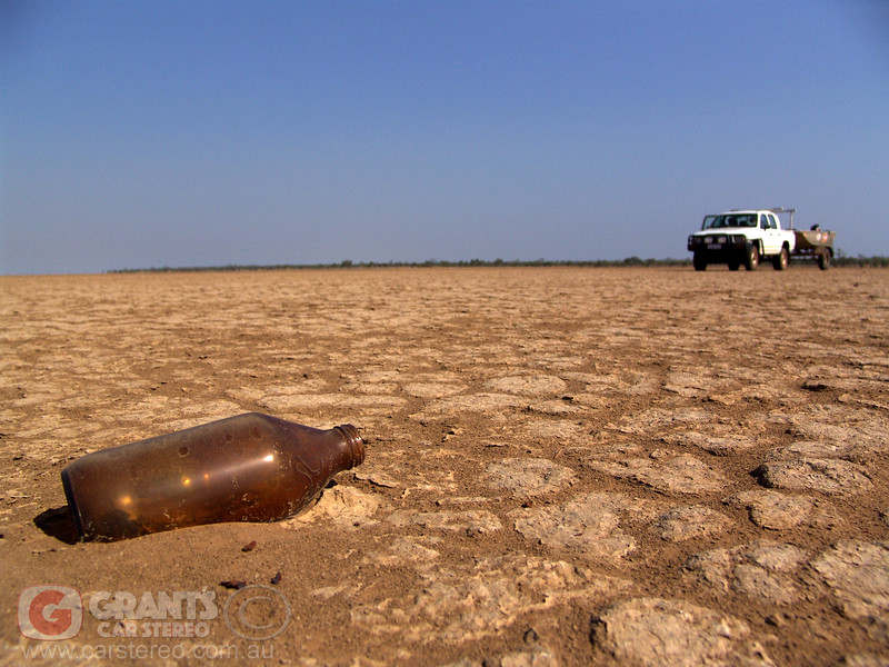 A lost bottle on the clay pan east of Derby.