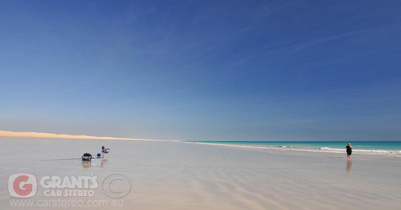 Beach fishing near Willie Creek. Broome, Westeren Australia.