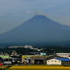Mount Fuji in Japan. Photo taken from the bullet train.