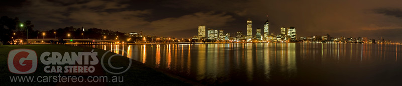 Narrows Bridge and City of Perth from South Perth.