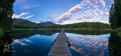 Lost Lake and Whistler Mountain at Dawn