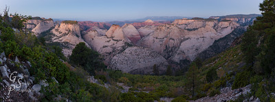 Dawn Over Zion's West Rim Trail