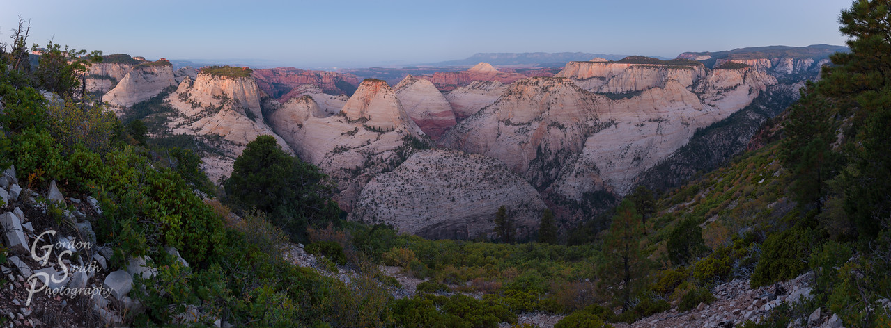 panorama from West Rim Trail Horse Pasture Plateau