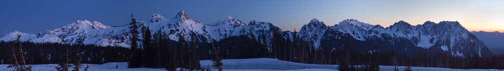 Tatoosh Range / Mt Rainier National Park / Washington  This was taken from one of the trails near paradise. This is a panoramic image of 8 photos merged together in Photoshop.