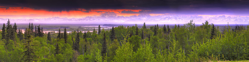Alaska range from Talkeetna
