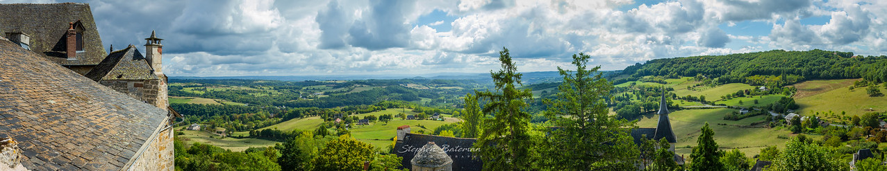 Panorama from Correze, Dordogne, France
