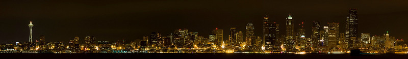 Seattle Downtown Panorama / Alki Beach