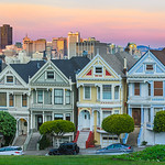7 painted ladies_J700892_Sunset-San-Francisco-Victorians-San-Francisco-Skyline-Panorama-6 images V2 Panorama