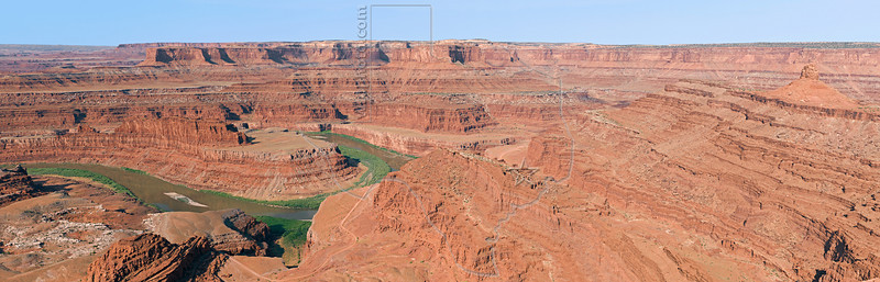 Panorama - Green River in Shafer Canyon,<br /> from Dead Horse Point,<br /> Dead Horse Point State Park, Utah