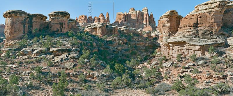 Sandstone Formations,<br /> along Chesler Trail,<br /> Canyonlands National Park, Utah