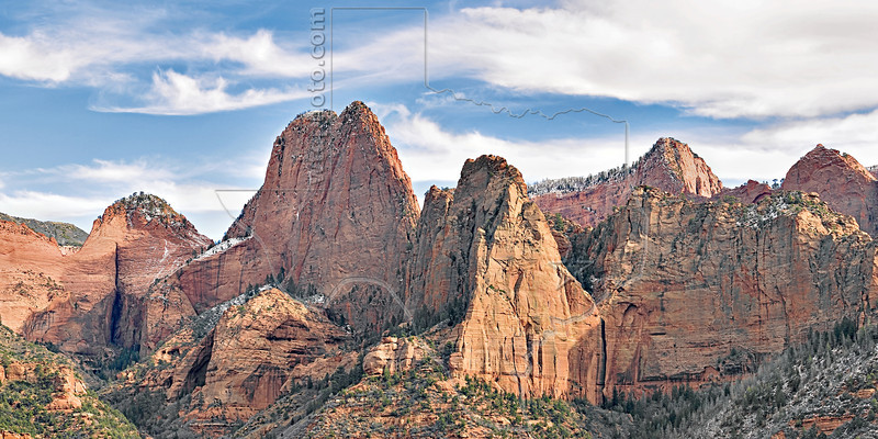 Sandstone Mountains,<br /> Kolob Canyons,<br /> Zion National Park, Utah