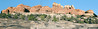 Sandstone Formations and Potholes,<br /> along Chesler Trail,<br /> Canyonlands National Park, Utah