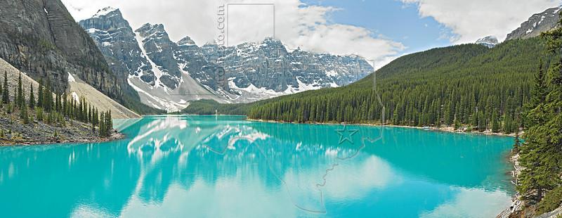 Panorama - Moraine Lake,<br /> Banff National Park, Alberta, Canada