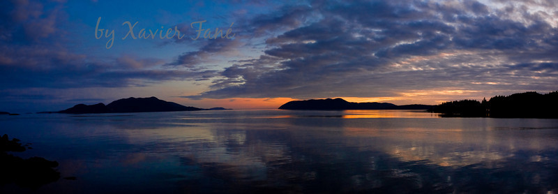 Magnificent sunset over Doe Bay, Orcas Island, Washington.